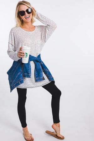 Lana Leopard Knit Tunic
