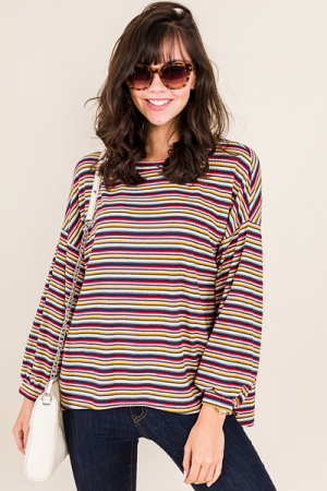Multi Stripe Oversize Top