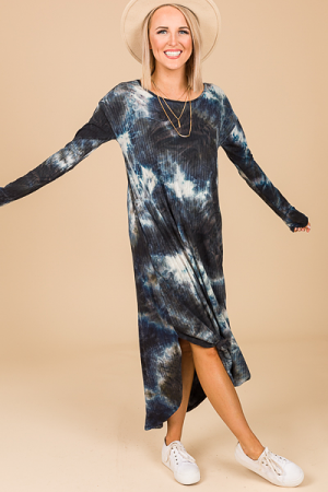 Galaxy Ribbed Midi
