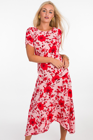 Berry Blossoms Midi, Pink