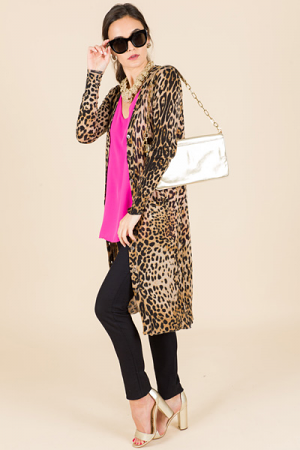 Love Long Leopard Sweater