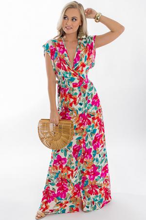 Lexee Floral Wrap Maxi