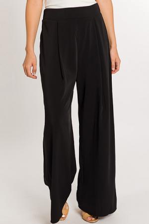 Pleated Pull on Pants, Black
