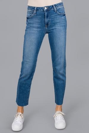 Raw Hem Boyfriend Jeans, Medium