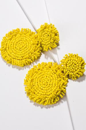 Seed Bead Discs, Yellow