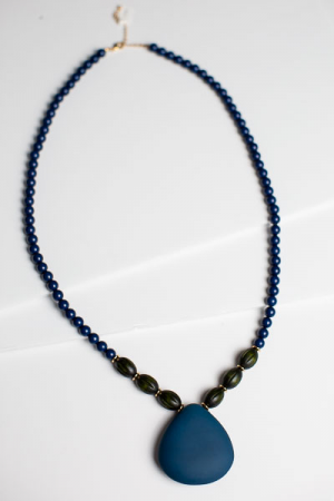 Natural Navy Necklace