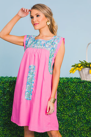 Marie Shift Dress, Bubblegum