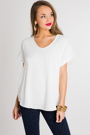 Solid Darcy Top, Ivory