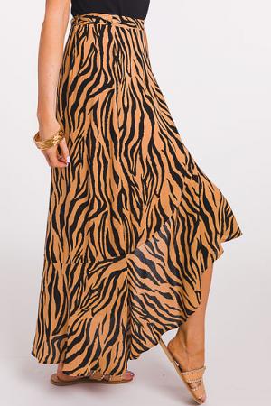 Safari Wrap Midi Skirt