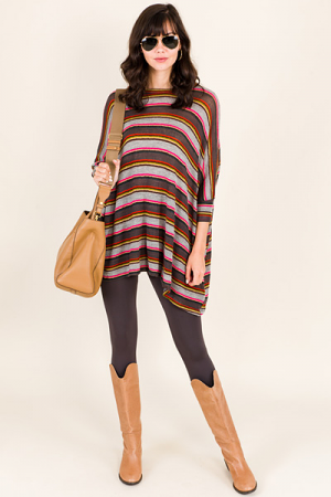 Mixed Up Stripes Sweater