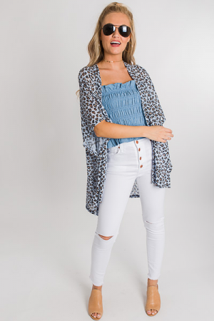 Singita Summer Cardi, Light Blue