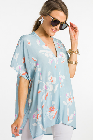 Classic Karlie Tunic, Blue Bloom