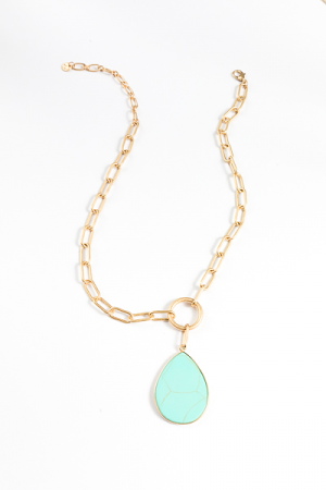 Turquoise Toggle Necklace