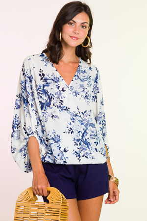 Chinoisserie Wrap Blouse