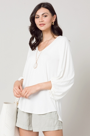 Creamy V Tunic, Off White