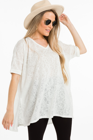 Burnout Tunic, Off White