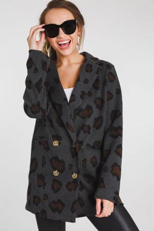 Oversized Leopard Blazer