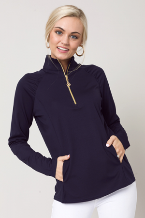 Liquid Heaven Half Zip, Navy