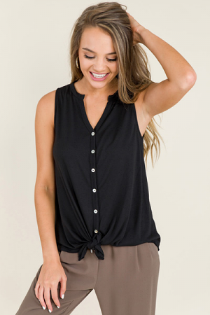 Liz Tie Top, Black