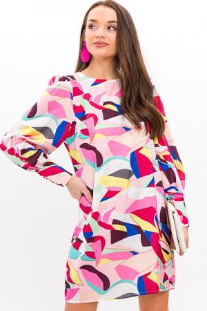 Abstract Art Satin Dress