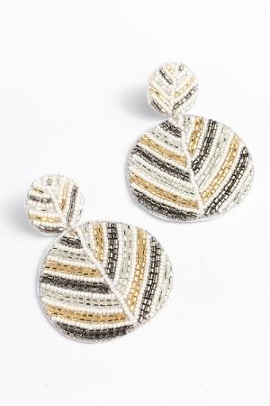 Multi Color Earrings, Gray