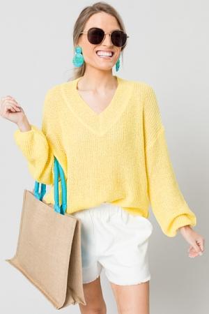 Allison Sweater, Yellow