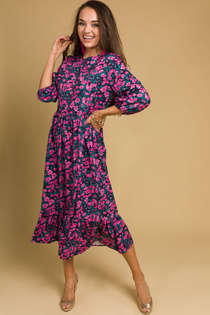 Aly Maxi, Pink Floral