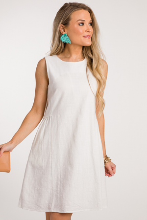 Claudia Babydoll Dress, Off White