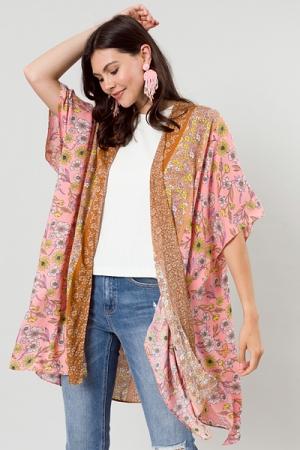 Pink Borders Kimono