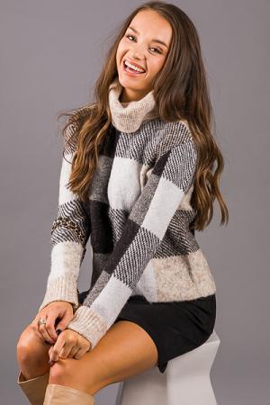 Cozy Checker Sweater