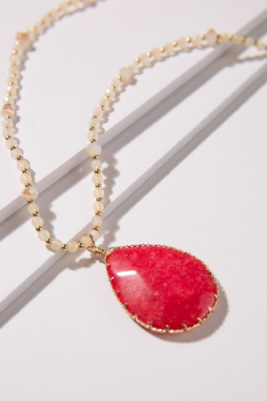Red Reck Long Necklace