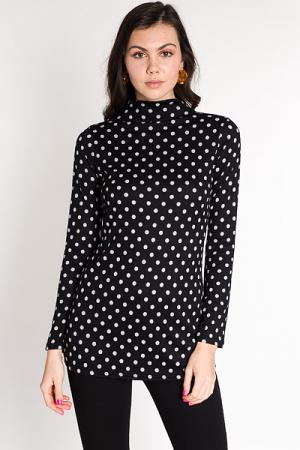 Doll In Dots Tunic, Black