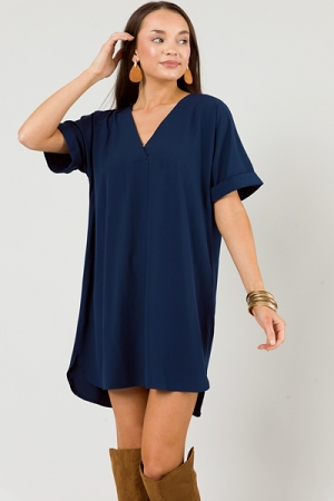 Picture Perfect V Dress, Navy