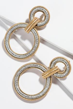 Metallic Thread Earring
