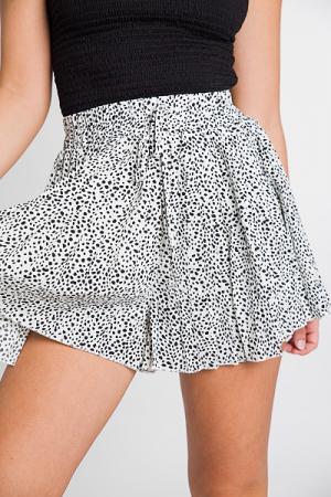 Pleated Dalmation Shorts
