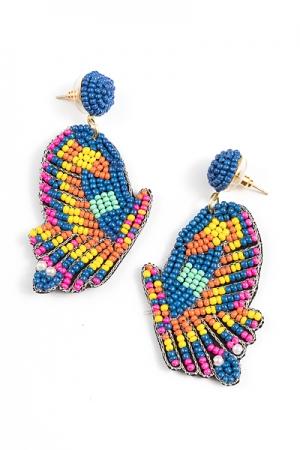 Beaded Butterfly Earrings, Multi
