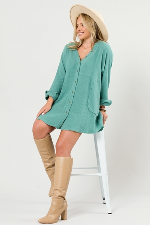 Your Way Gauze Frock, Forest