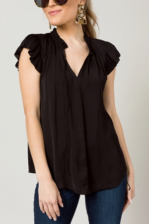 Night Moves Silky Blouse, Black