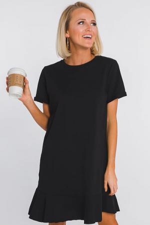 Hope T-Shirt Dress, Black