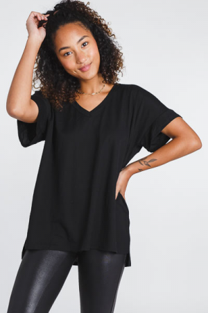 Keep It Cool V Neck, Black