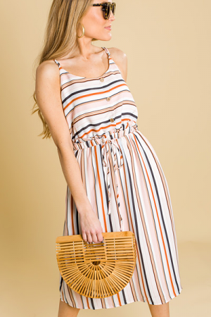 Sweet Striped Midi