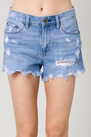 Carson Distress Denim Shorts