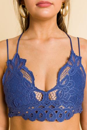 Laced Bralette, Blue