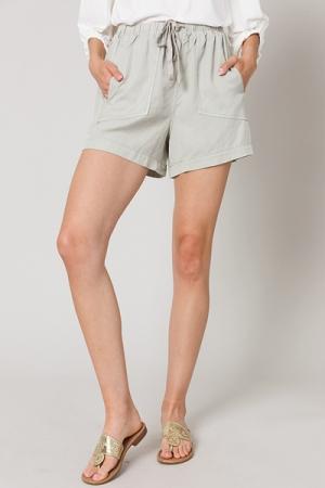 Oyster Tencel Shorts