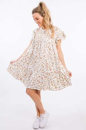 Soft Tiers Frock, Panther