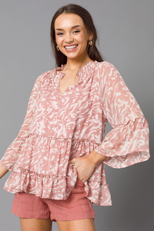 Current Tiered Blouse, Mauve