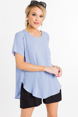 Everyday Blouse, Periwinkle