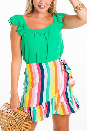 Rainbow Wrap Skirt