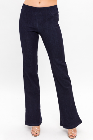Callie Pull On Flares, Indigo