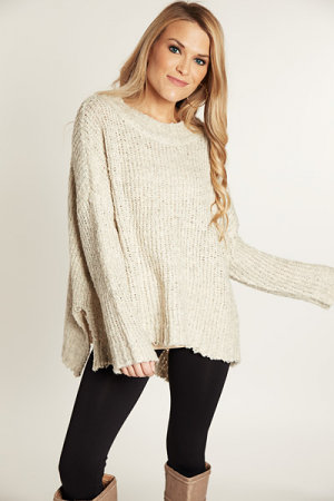 Tone It Down Sweater, Oatmeal
